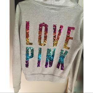 VS PINK BLING rainbow sequin jacket